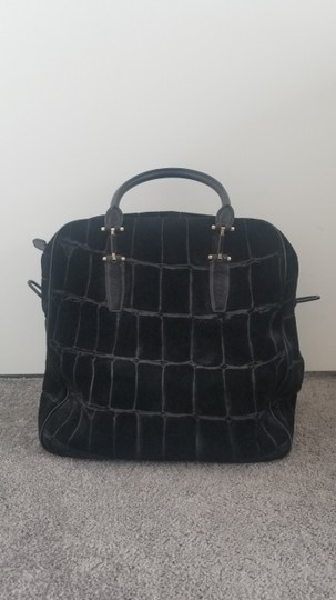 Theyskens' Theory Suede Leather black Travel Bag Image 1