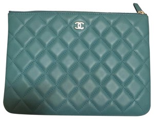 Chanel turquoise Clutch
