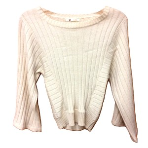 Tulle Knit Boat Neck Dolman Sleeve Ribbed Sweater