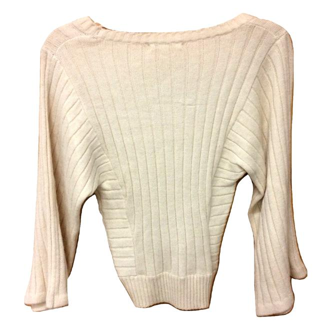 Tulle Knit Boat Neck Dolman Sleeve Ribbed Sweater Image 1