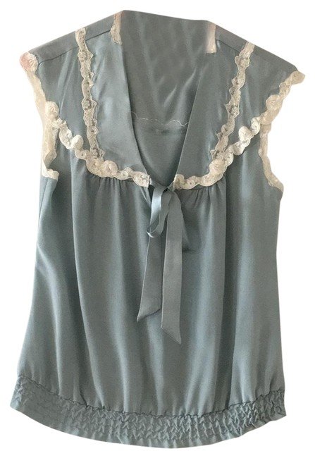Preload https://img-static.tradesy.com/item/25432563/paul-and-joe-light-blue-silk-with-cream-colored-lace-tie-and-blouse-size-8-m-0-1-650-650.jpg