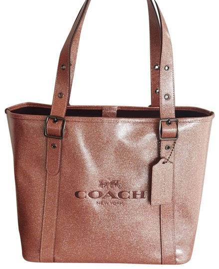 Preload https://img-static.tradesy.com/item/25432575/coach-small-ferry-light-copper-pink-glitter-coated-canvas-tote-0-1-540-540.jpg