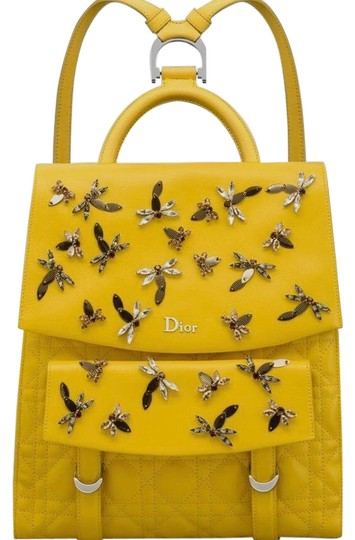 Preload https://img-static.tradesy.com/item/25432601/dior-dragonfly-stardust-mimosa-yellow-cannage-leather-backpack-0-1-540-540.jpg