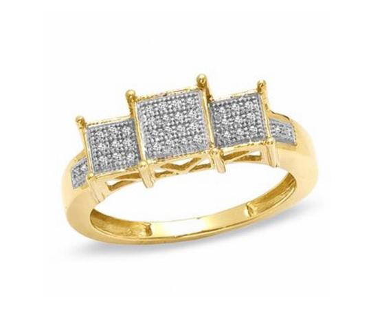 Preload https://img-static.tradesy.com/item/25432646/zales-gold-w-110-ct-tw-square-composite-diamond-three-stone-in-10k-engagement-ring-0-0-540-540.jpg
