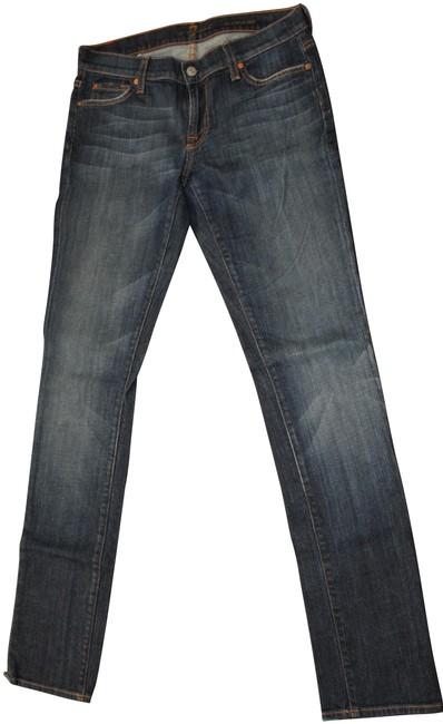 7 For All Mankind Straight Leg Jeans-Dark Rinse Image 0