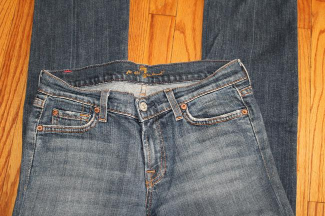 7 For All Mankind Boot Cut Jeans-Medium Wash Image 6