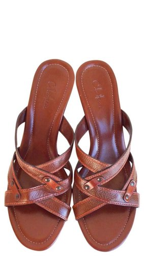 Cole Haan Brown Leather Sandals Image 1