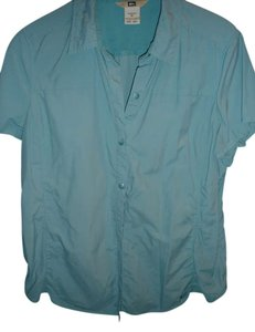 REI Button Down Shirt Green