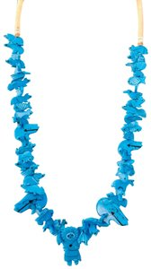 Billabong Billabong Faux Turquoise Hawaiian man with animals beach and all around Wear Style necklace