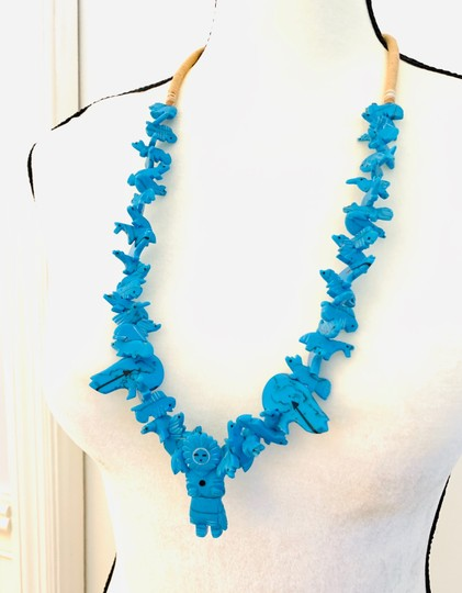 Billabong Billabong Faux Turquoise Hawaiian man with animals beach and all around Wear Style necklace Image 5