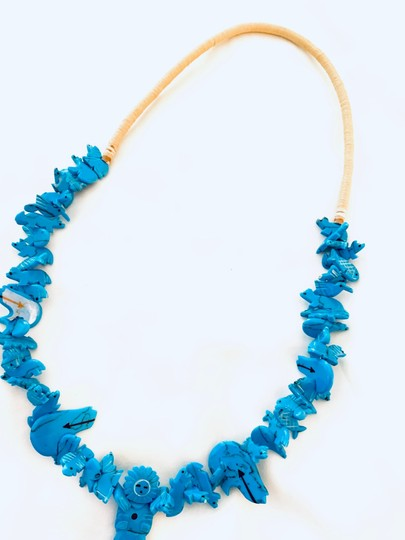 Billabong Billabong Faux Turquoise Hawaiian man with animals beach and all around Wear Style necklace Image 6