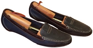 Cole Haan Leather Penny Loafer Drivers Slip-on Dark blue and brown Flats