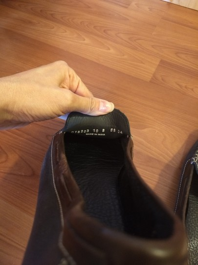 Cole Haan Leather Penny Loafer Drivers Slip-on Dark blue and brown Flats Image 3