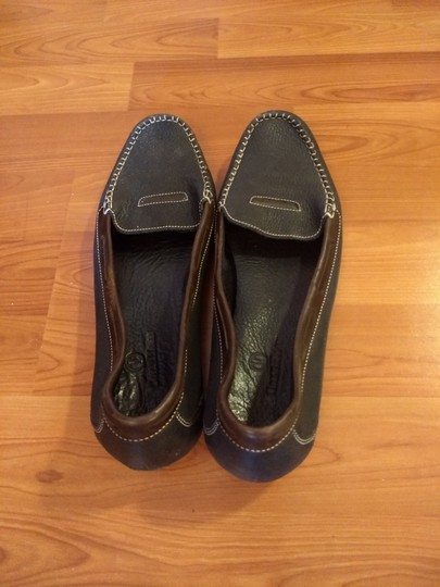 Cole Haan Leather Penny Loafer Drivers Slip-on Dark blue and brown Flats Image 5