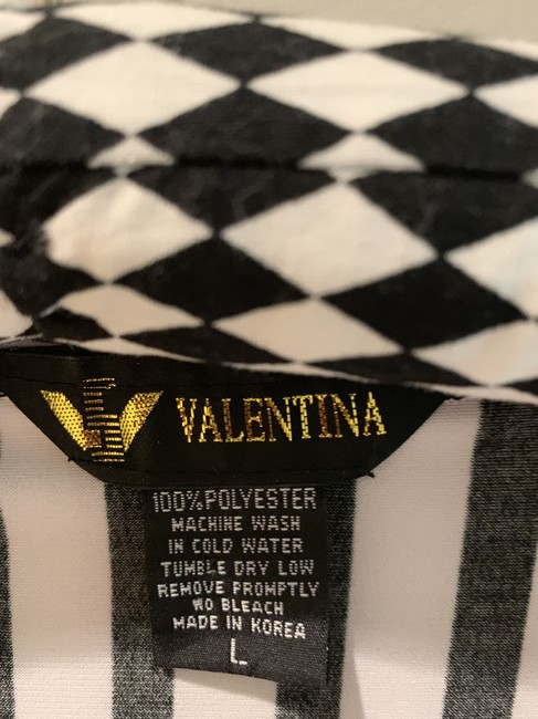 Valentina Silver Nail Heads Machine Washable Top Black and white Image 2