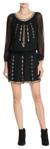 Joie Beaded Embroidered Sheer Dress