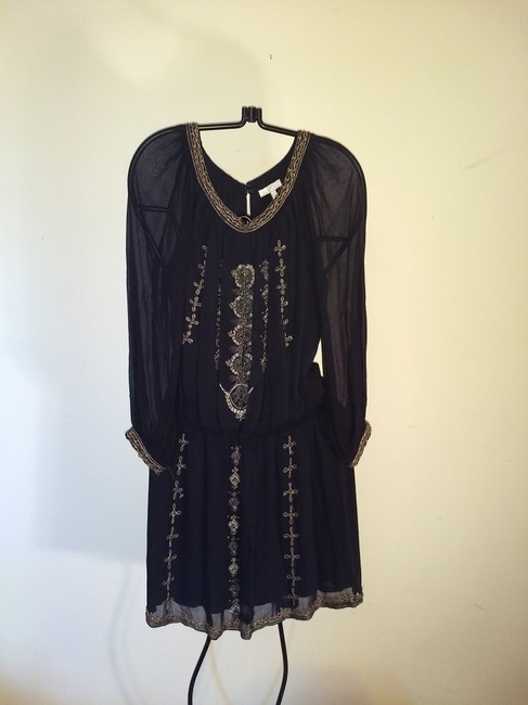 Joie Beaded Embroidered Sheer Dress Image 1