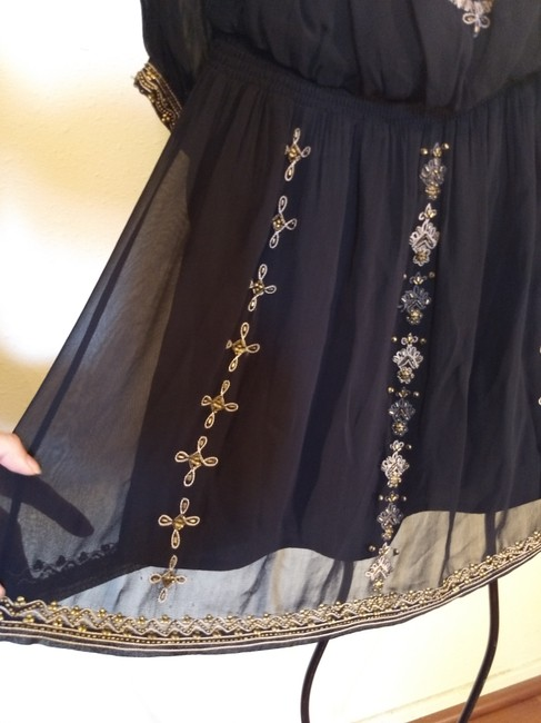 Joie Beaded Embroidered Sheer Dress Image 3