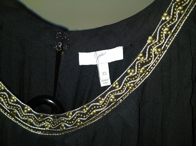 Joie Beaded Embroidered Sheer Dress Image 6