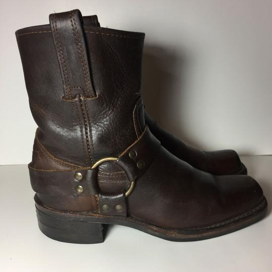 Frye Harness 77450 Women Size 7.5 Brown Boots Image 3