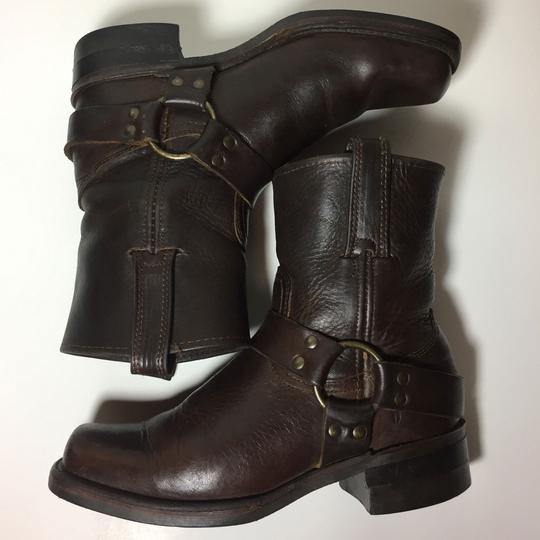 Frye Harness 77450 Women Size 7.5 Brown Boots Image 4