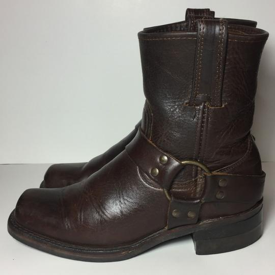 Frye Harness 77450 Women Size 7.5 Brown Boots Image 5