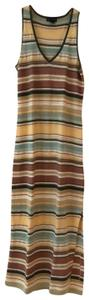 multicolored pastel peach, mauve, green, yellow and more... Maxi Dress by Ralph Lauren
