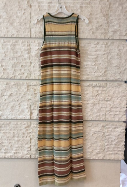 multicolored pastel peach, mauve, green, yellow and more... Maxi Dress by Ralph Lauren Image 2