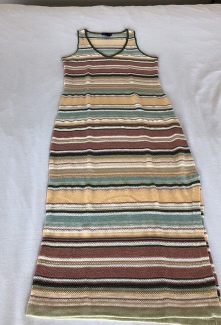 multicolored pastel peach, mauve, green, yellow and more... Maxi Dress by Ralph Lauren Image 3