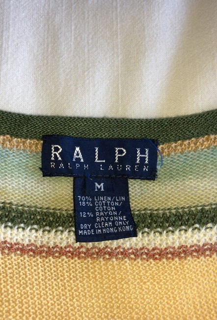 multicolored pastel peach, mauve, green, yellow and more... Maxi Dress by Ralph Lauren Image 6