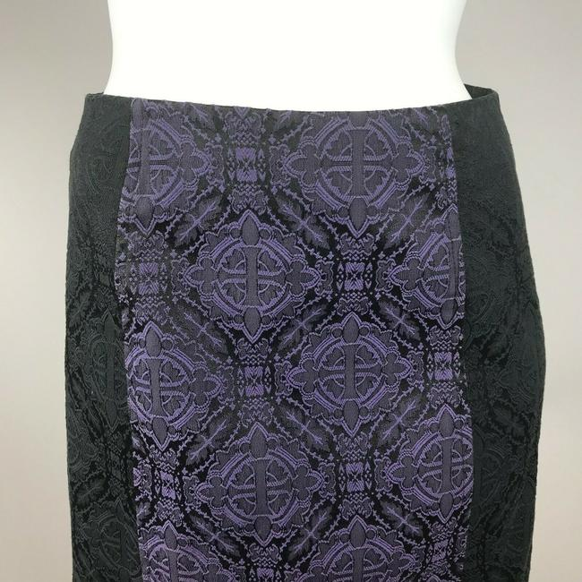 Morbid Threads Gothic Pinup Maxi Skirt Purple Black Image 6