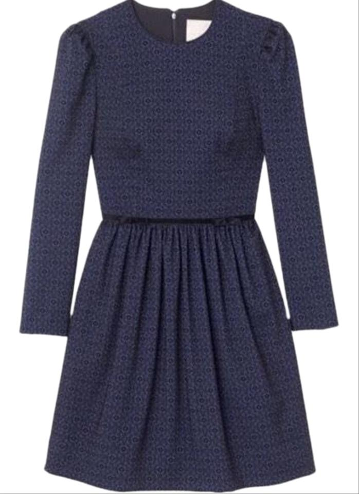 898d89c4f8f Navy Black Callie Long Sleeve Bow Mid-length Cocktail Dress Size 2 (XS) 58%  off retail