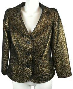 Rickie Freeman for Teri Jon Metallic Gold Blazer