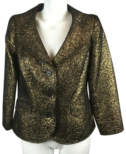 Preload https://img-static.tradesy.com/item/25433102/rickie-freeman-for-teri-jon-gold-metallic-jacket-blazer-size-os-one-size-0-1-650-650.jpg