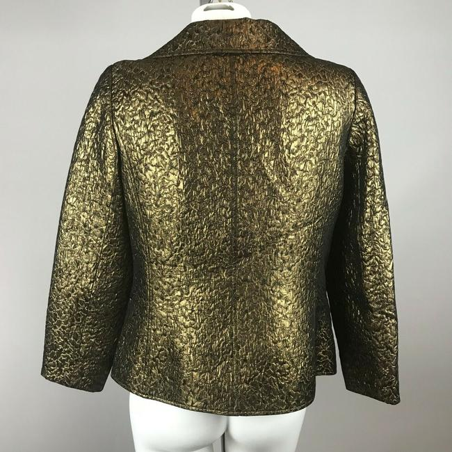 Rickie Freeman for Teri Jon Metallic Gold Blazer Image 3