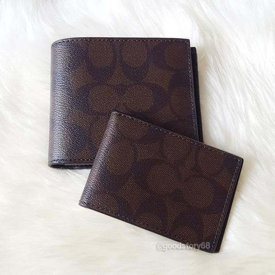 Coach COACH F74993 SIGNATURE COMPACT ID WALLET Image 6