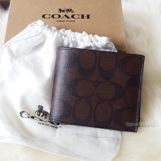Coach COACH F74993 SIGNATURE COMPACT ID WALLET Image 7