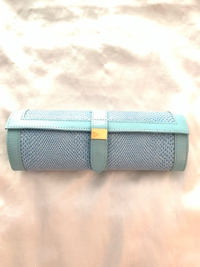 Jewelry Bag Roll Up Leather Jewelry Holder for Travel or Storage in Tiffany Green Image 10