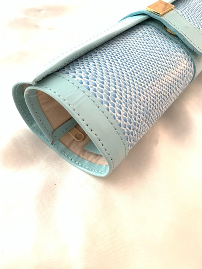 Jewelry Bag Roll Up Leather Jewelry Holder for Travel or Storage in Tiffany Green Image 4