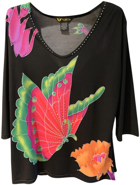Preload https://img-static.tradesy.com/item/25433173/valentina-butterfly-black-background-with-hot-pink-and-orange-top-0-1-650-650.jpg