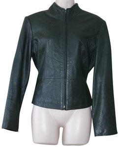 Newport News green Leather Jacket