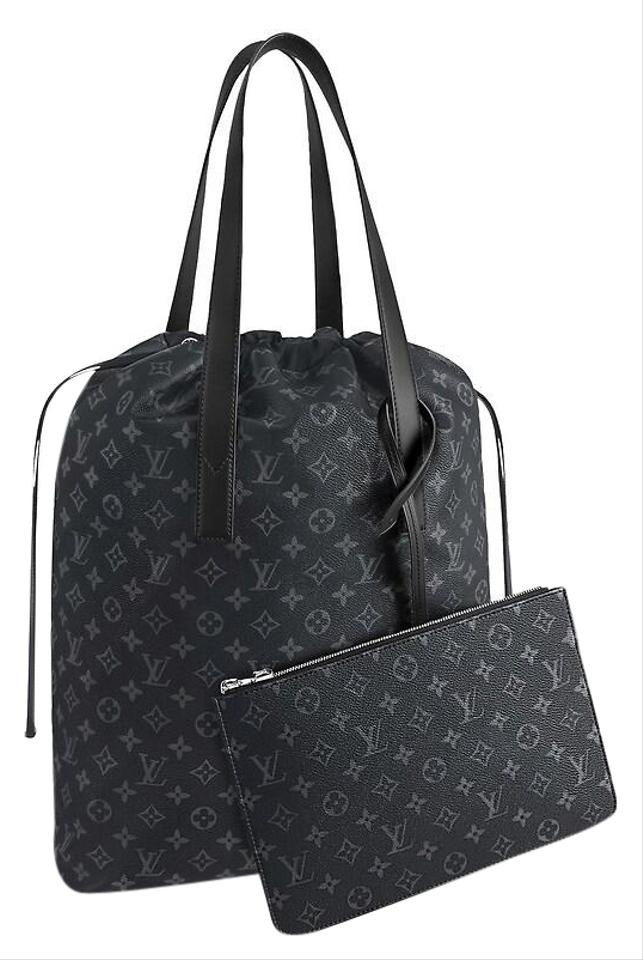 fe21c673a5f5 Louis Vuitton Limited Edition Monogram Lv Drawstring Tote in Black Image 0  ...