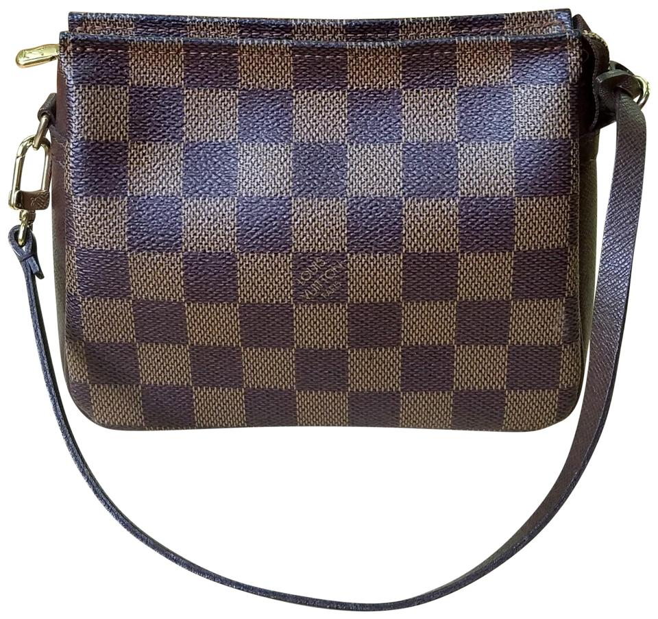 39d65f3888959 Louis Vuitton Brown Pochette Trousse Damier Ebene Cosmetic Bag - Tradesy