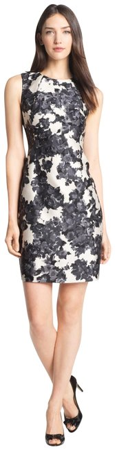 Item - Black White Leena Sleeveless Floral Sheath Cocktail - - New Tags Short Work/Office Dress Size 8 (M)
