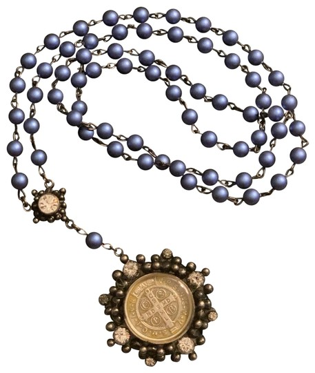 Preload https://img-static.tradesy.com/item/25433773/virgins-saints-and-angels-blue-silver-and-san-benito-cloister-rosary-iridescent-pearl-gunmetal-cryst-0-1-540-540.jpg