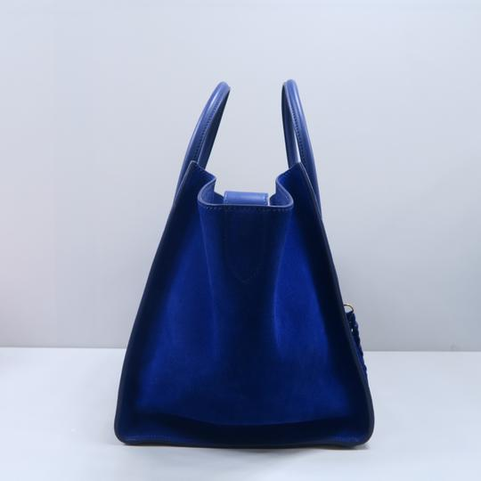 Céline Medium Luggage Phantom Suede Tote in Cobalt Image 2