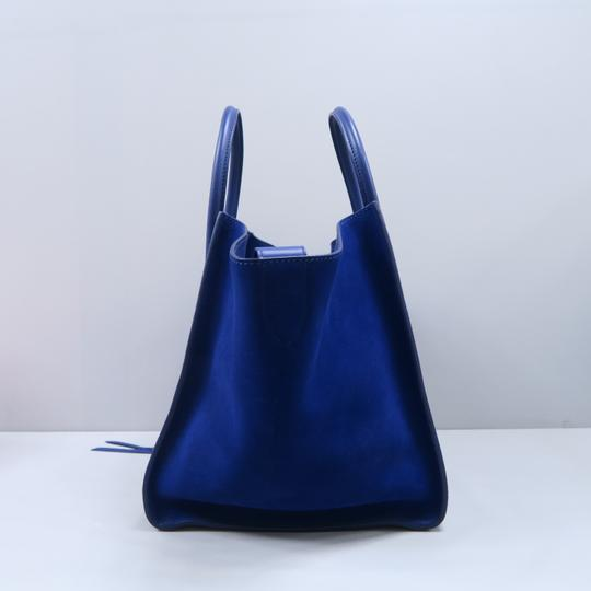 Céline Medium Luggage Phantom Suede Tote in Cobalt Image 3