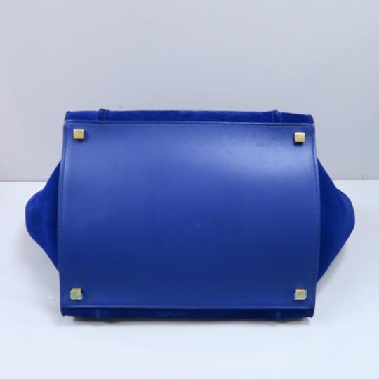 Céline Medium Luggage Phantom Suede Tote in Cobalt Image 4