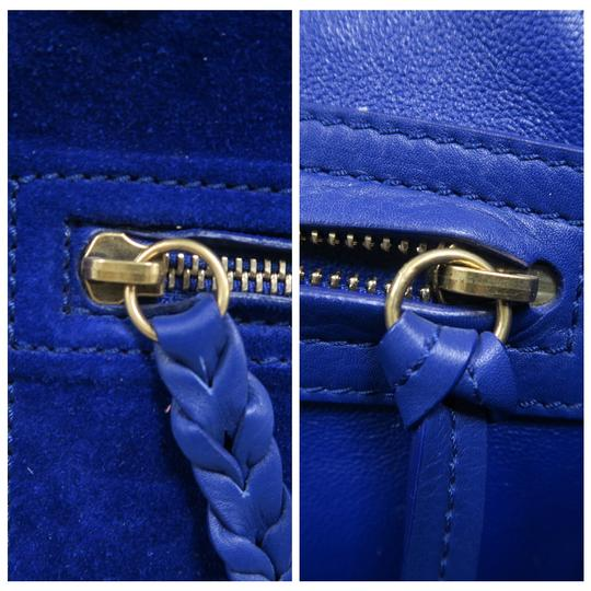Céline Medium Luggage Phantom Suede Tote in Cobalt Image 7