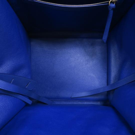 Céline Medium Luggage Phantom Suede Tote in Cobalt Image 8